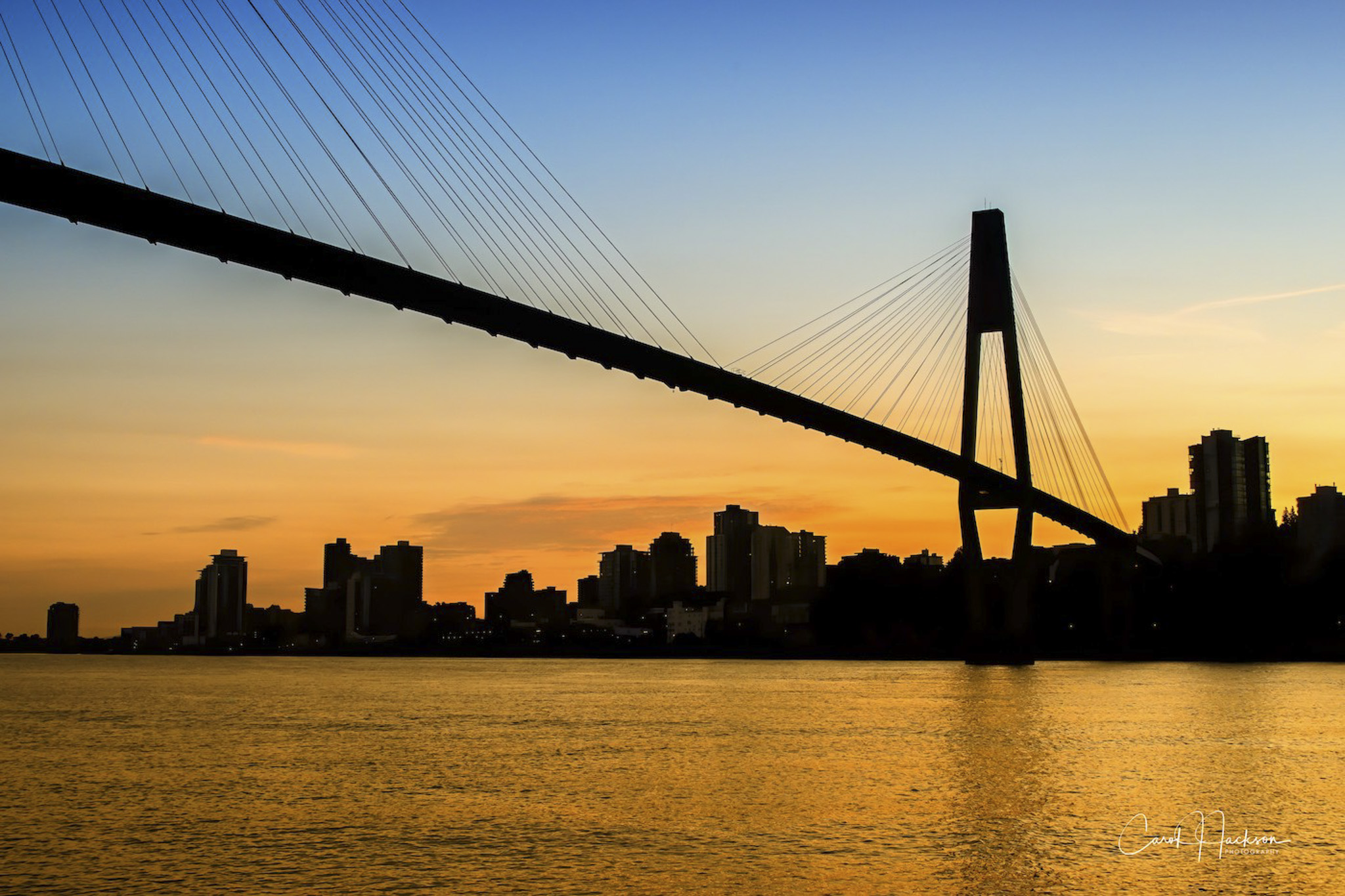 Sky Train Bridge Silhouette - Carol Jackson