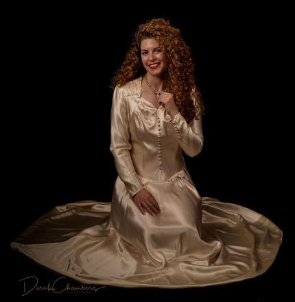 K32-S1725 - Kendra Cox in her grandmother's (and mother's) wedding dress - Derek Chambers