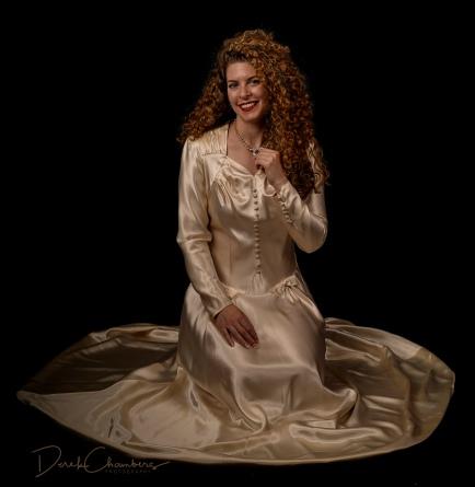 K32-S1725 - Kendra Cox in her grandmother's (and mother's) wedding dress - Derek Chambers