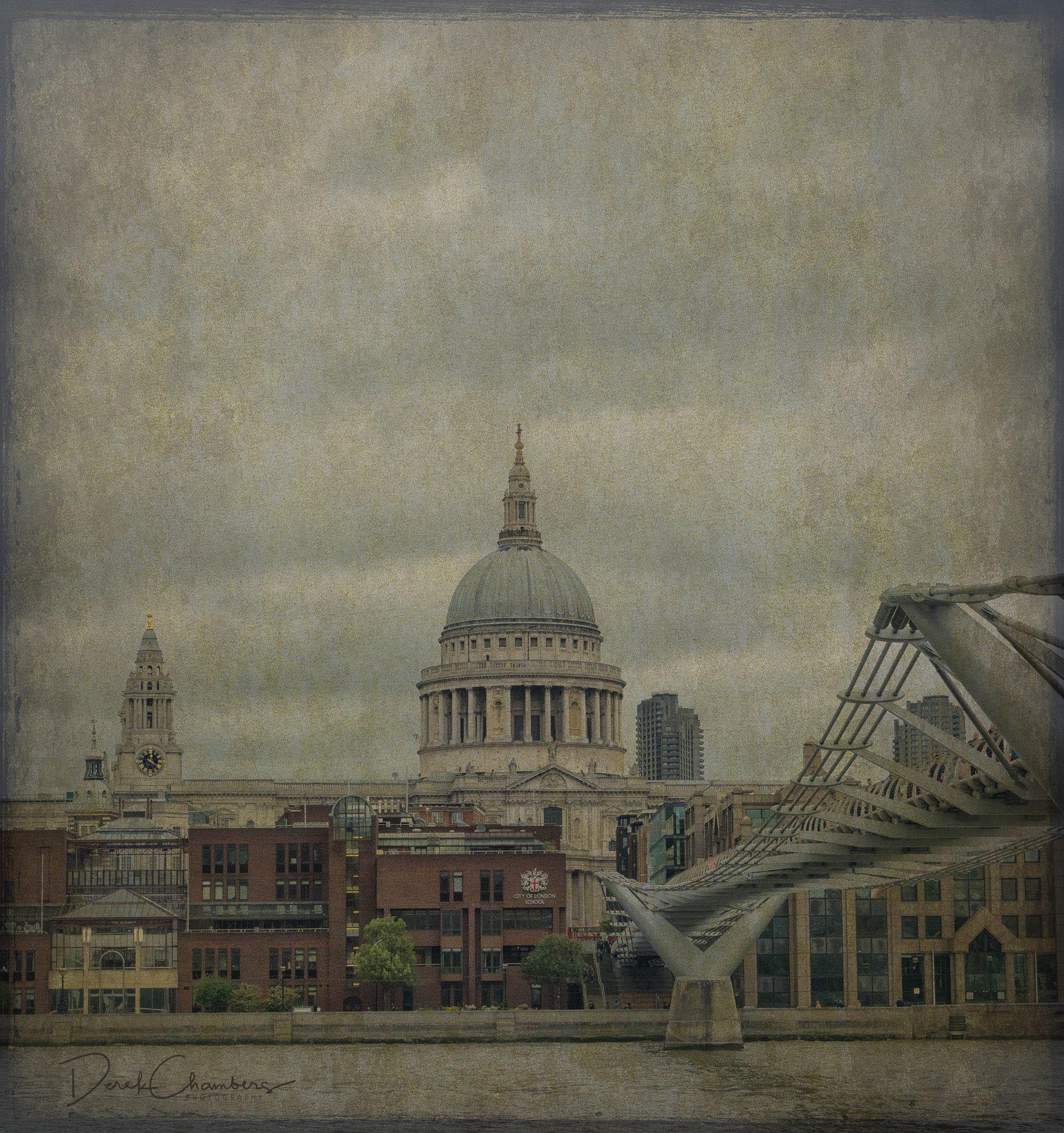 St Pauls and Milennium Bridge - Derek Chambers