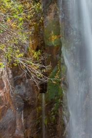 Carving in Deadman Falls - Gloria Melnychuk - Deadman Falls, Deadman River Valley, Deadman-Vidette Road Trip - October 2020