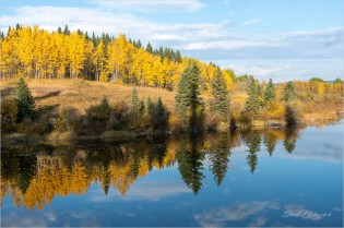 Upper Stack Lake 3156 - Gloria Melnychuk - Fall reflections October 2020