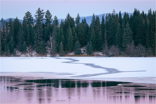 © Sharon Jensen - November Sunset at Webb Lake