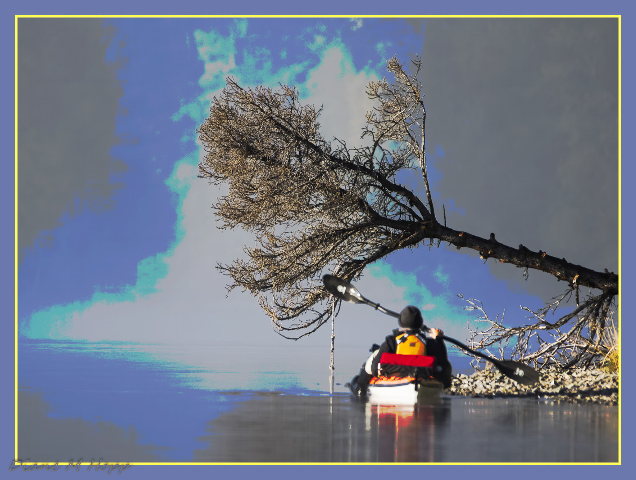 Primary Conundrum - Kayaker in Fog - DMHopp
