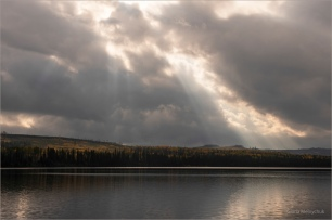 """Sun Wants to Shine - Gloria Melnychuk - Machete Lake October 2020 ~ """"Storms never last do they baby, Bad times all pass with the wind, Your hand in mine stills the thunder, And you make the sun want to shine."""""""