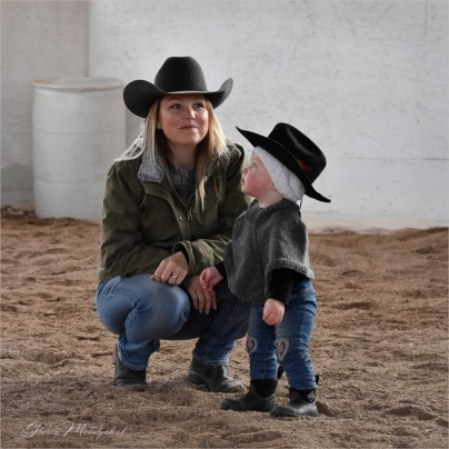 Gloria Melnychuk - Mother and Daughter at Cariboo horse event