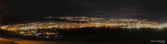 Kevin Haggkvist-Night Pano Kamloops