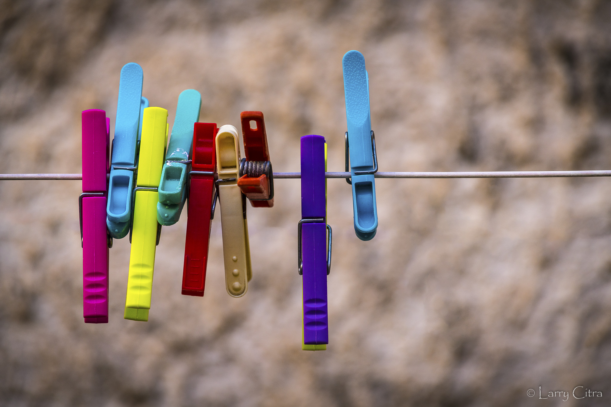 Larry Citra © Clothes Pegs on Line, Provence, France