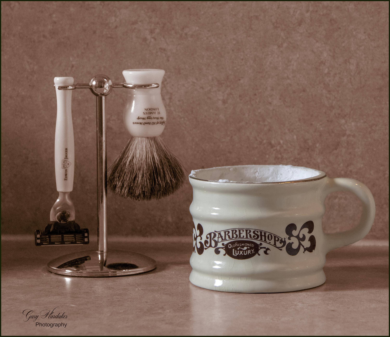 Gary Hardaker-My Shaving Brush and Mug (still life)