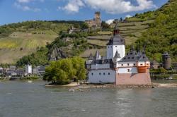 Castles on the Rhine 2495 - Donna Marshall [Middle Rhine - Pfalz Castle and Gutenfels Castle - Kaub]