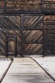 Ray Waters Shed Door Bent Rail