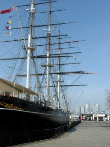 Derek Chambers - Cutty Sark in Grenwich - Canary Wharf in the Background 2001