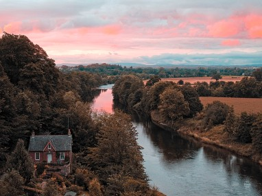 Ray Waters Scotish River Sunset