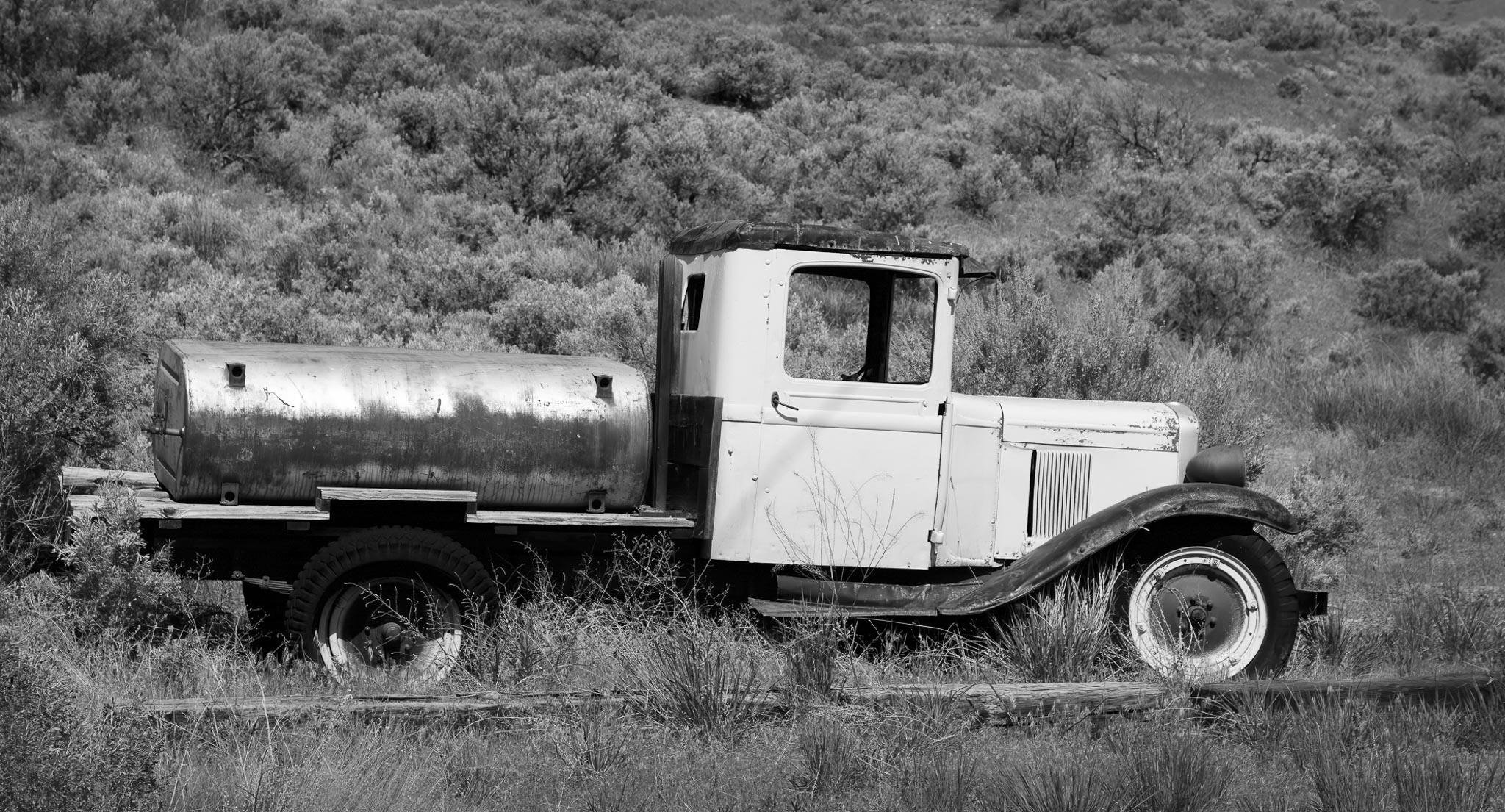 Sharon Jensen - © - Old Truck - B-W