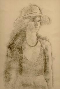 S8396 - Pencil Sketch - Zelda and Her New Top - Derek Chambers