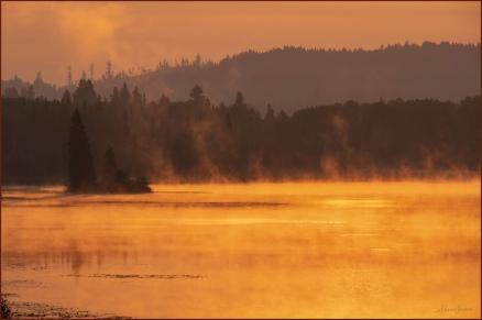 Sharon Jensen - © - Wildfire Sunrise-Webb Lake
